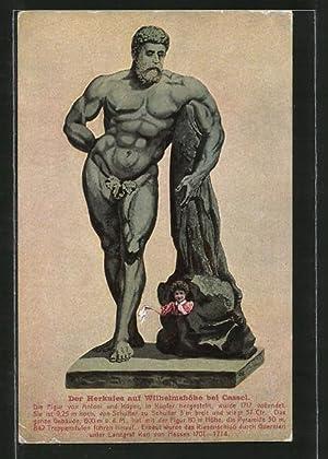 Ansichtskarte Kassel-Wilhelmshöhe, Herkules-Figur von Antoni und Küper