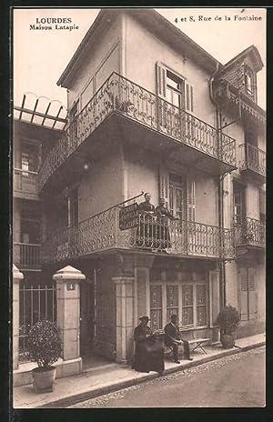 Carte postale Lourdes, Maison Latapie