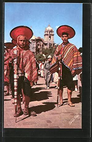 Postcard Cuzco, Mayers of Pisac on the