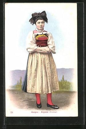 Ansichtskarte Aargau - Argovie, Mädchen aus Fricktal
