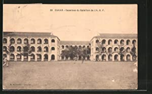 Ansichtskarte Dakar, Casernes du Bataillon de l'AOF,