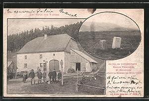 Ansichtskarte Col de Louschpach, Grenzsteine und Zollbeamte