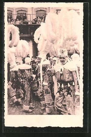 Ansichtskarte Binche, Carnaval, Groupe de Gilles en