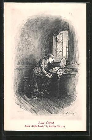 Künstler-Ansichtskarte Charles Dickens, Little Dorrit
