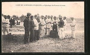 Carte postale Camp de St-Médard-en-Jalles, Epluchage des