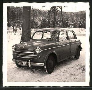 Fotografie Auto Fiat 1100, PKW im Schnee,