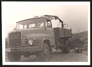 Fotografie LKW MAN, Lastwagen mit Selbstladekran