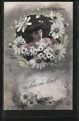 Fotomontage-Ansichtskarte Je vous aime, Pas du tout,