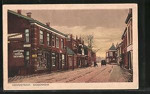 Ansichtskarte Sassenheim, Hoofdstraat, Kantoor en School Boekhandel