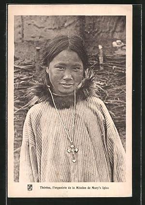 Ansichtskarte Eskimo, Therese, l'organiste de la Mission
