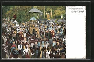 Ansichtskarte Kandy, The Perahera, an annual Buddhist