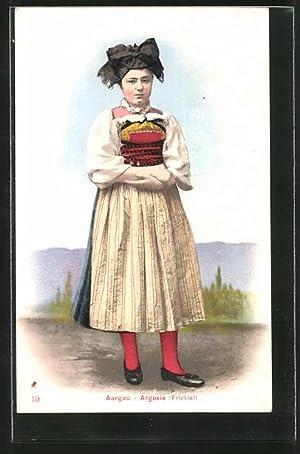 Ansichtskarte Aargau / Argovie, Fricktal, Schweizerin in