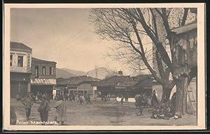 Ansichtskarte Prilep, Partie am Marktplatz