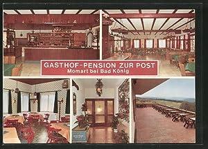"""Ansichtskarte Momart, Gasthof-Pension """"Zur Post"""""""