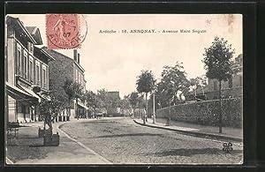 Carte postale Annonay, avenue Marc Seguin