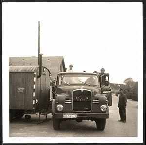 Fotografie LKW MAN, Lastwagen der Firma Kemna
