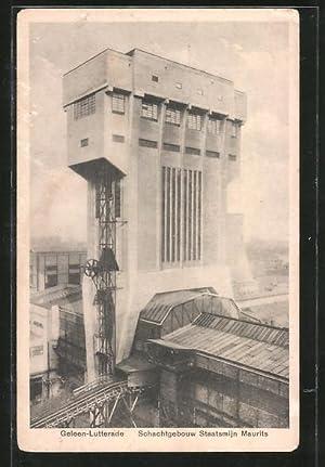 Ansichtskarte Geleen-Lutterade, Schachtgebouw Staatsmijn Maurits
