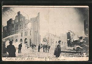 Ansichtskarte Rotterdam, Brand te Feyenoord, Brandkatastrophe