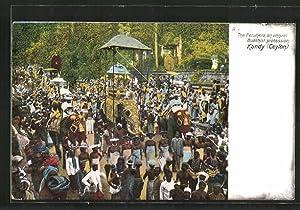 Ansichtskarte Kandy, The Perahera an annual Buddhist