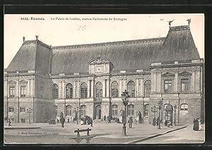 Carte postale Rennes, le palais de Justice,