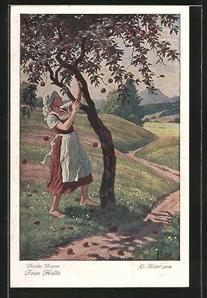Künstler-Ansichtskarte Otto Kubel: Szene aus dem Märchen