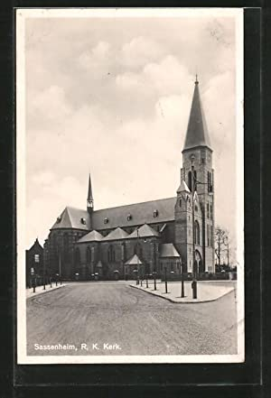 Ansichtskarte Sassenheim, R. K. Kerk, Blick zur