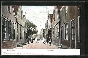 Ansichtskarte Zaandam, Rustenburg, Strassenleben mit Kindern