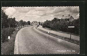 Ansichtskarte Sassenheim, Ortseingang mit Prov. weg