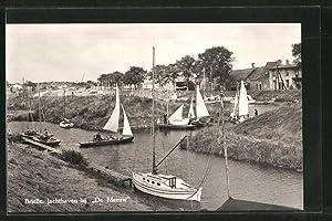 """Ansichtskarte Brielle, Jachthaven bij """"De Meeuw"""""""