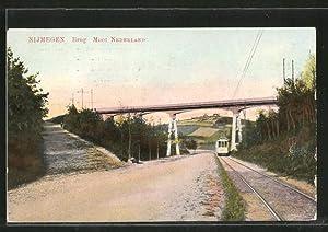 Ansichtskarte Nijmegen, Brug Mooi Nederland, Strassenbahn