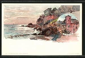 Artista-Cartolina Manuel Wielandt: Recco, Ortspartie