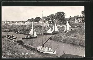Ansichtskarte Brielle, Jachthaven bij de Meeuw, Segelboote