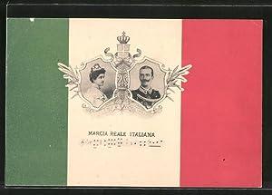 Cartolina Königshaus von Italien, Helene, Victor Emanuel