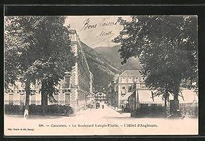 Carte postale Cauterets, l'hôtel d'Angleterre et le