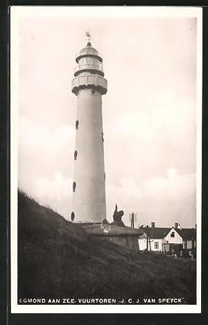 Ansichtskarte Egmond aan Zee, Vuurtoren / Leuchtturm