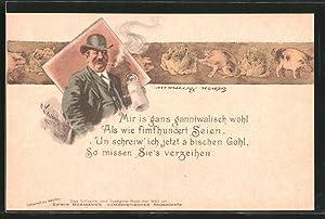 Künstler-Lithographie Edwin Bormann's Humoristischer Hausschatz, Mir is'