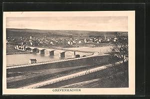 Ansichtskarte Grevenmacher, Ortsansicht mit Brückenpartie