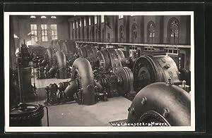Ansichtskarte Walchensee, Inneres des Kraftwerks