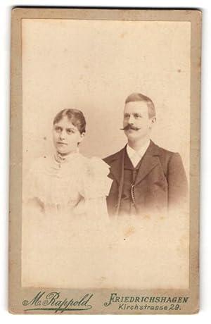 Fotografie M. Rappold, Berlin-Friedrichshagen, Brustportrait Dame und