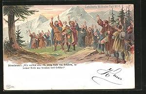Künstler-Ansichtskarte Schiller's Wilhelm Tell, Tell und seine