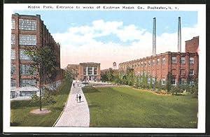 Postcard Rochester, NY, Kodak Park, Entrance to