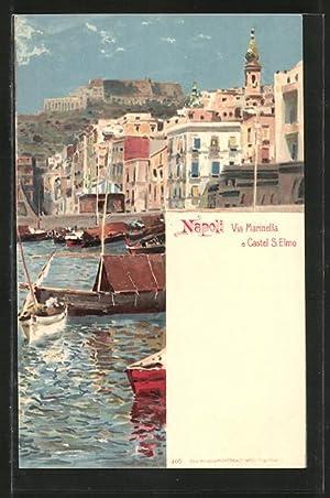Lithographie Napoli, Via Marinella e Castel S.