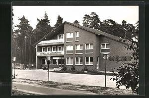 Ansichtskarte Metelen, Ortspartie mit Hotel am Gauxbach