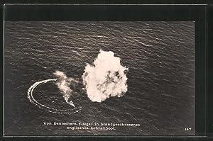 Ansichtskarte Von Deutschem Flieger in Brand geschossenes