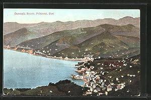 Cartolina Camogli, Panorama e Recco, Polanesi, Sori