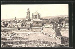 Ansichtskarte Jerusalem, Der Sion vom Osten gesehen