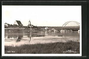 Ansichtskarte Kalix, Ortsansicht von der anderen Flussseite