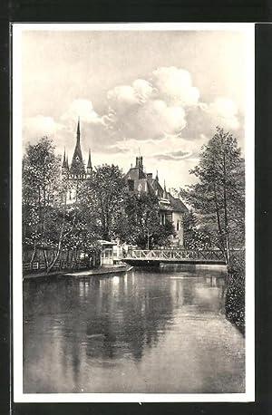 Ansichtskarte Kosice, Hernad mit Jakab Palais