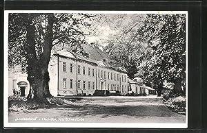 """Ansichtskarte Güby, Einfahrt zum Schloss """"Louisenlund"""""""