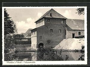 Ansichtskarte Metelen, Partie an der Wassermühle